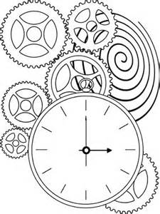 225x300 Steampunk Clock Drawing Kids Pages