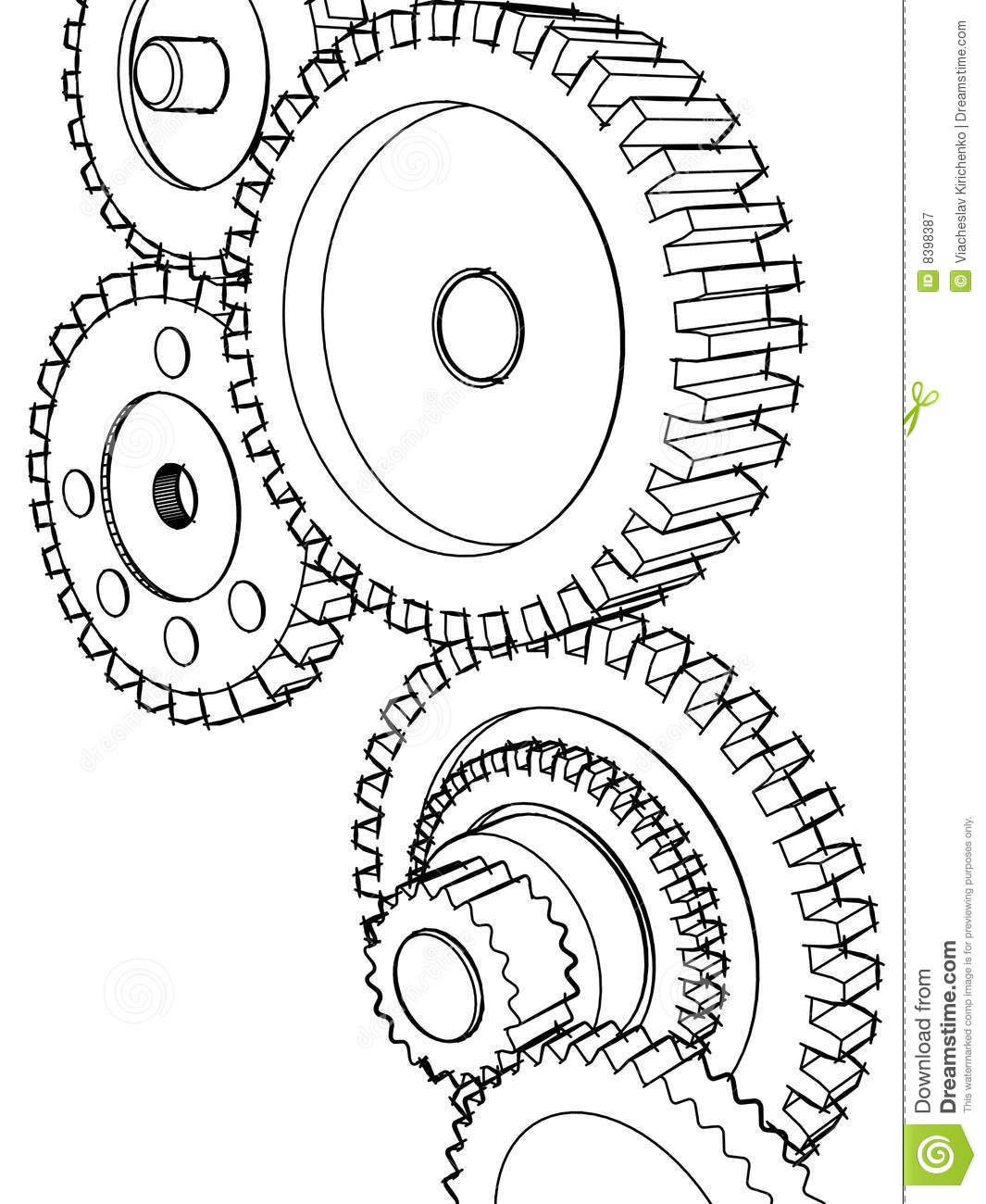 Clock Gears Drawing At Getdrawings Free Download