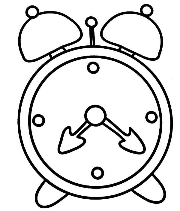 600x702 Drawing Of An Alarm Clock Unique Alarm Clock