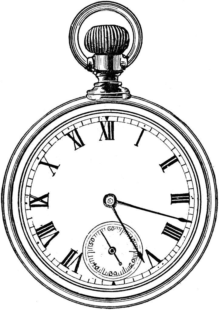 722x1024 Drawn Clock Stopwatch