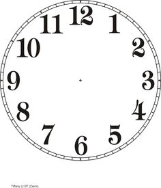 236x275 Clock Template Printable Purzen Clock Face Clip Art