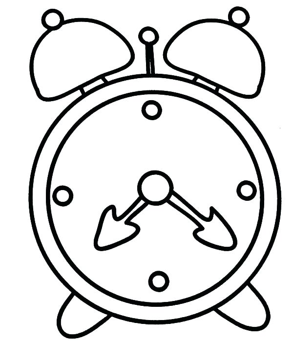 600x702 Clock Coloring Page Clock On Analog Clock Coloring Pages Alarm