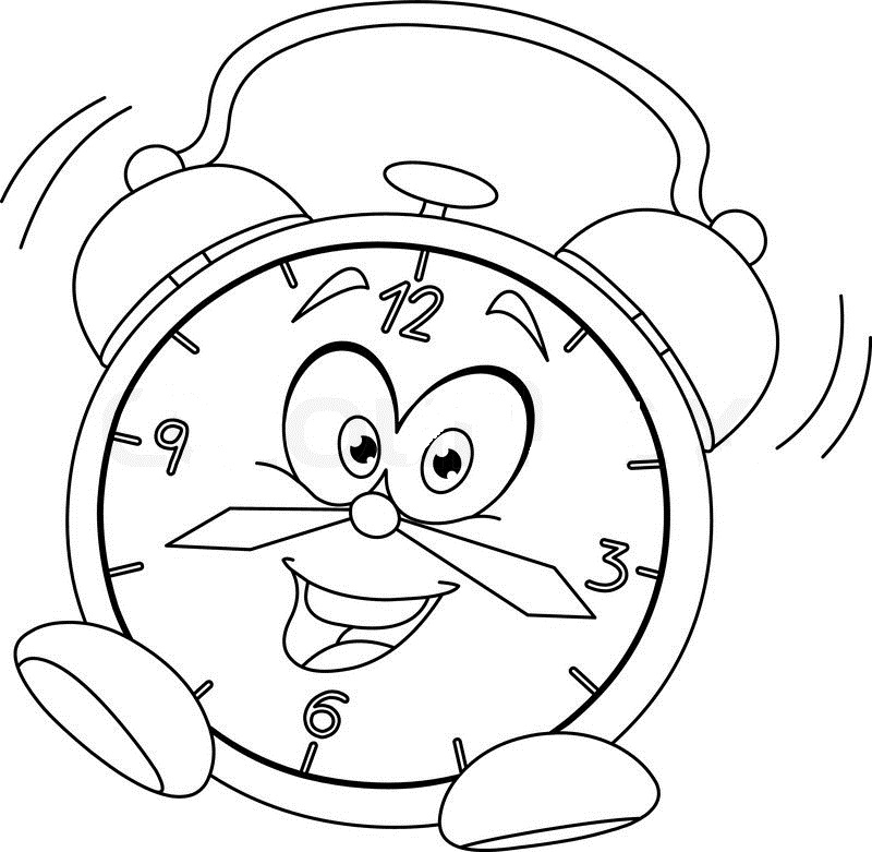 800x781 Clock Coloring Pages
