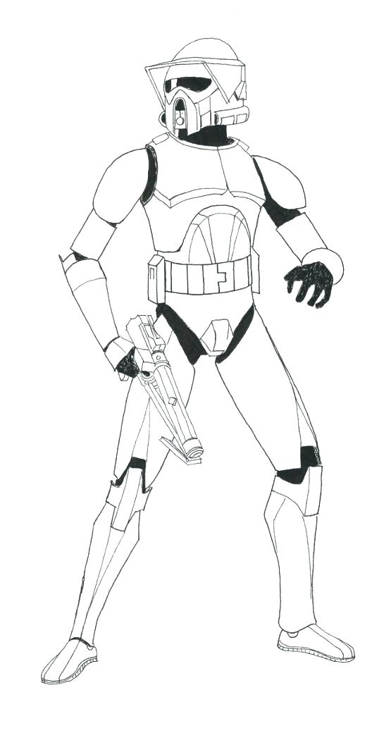 555x1040 Star Wars Clone Coloring Pages Star Wars The Clone Trooper Drawing