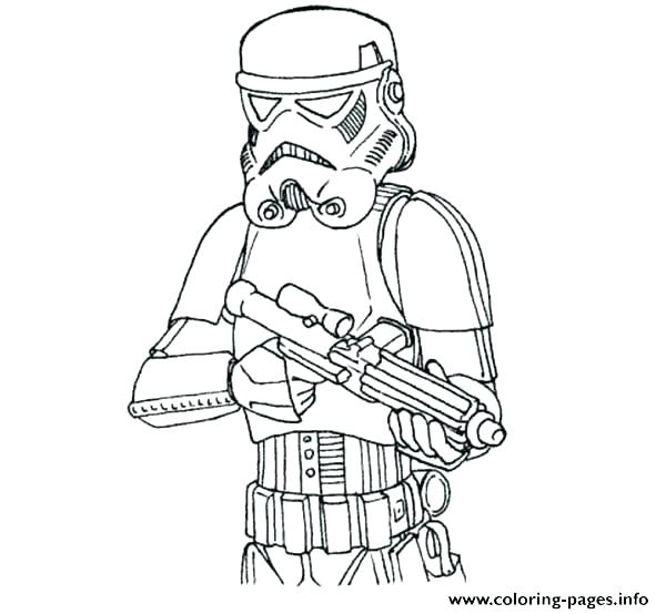 600x554 Clone Coloring Pages The Clone Wars Enemies Star Wars Coloring