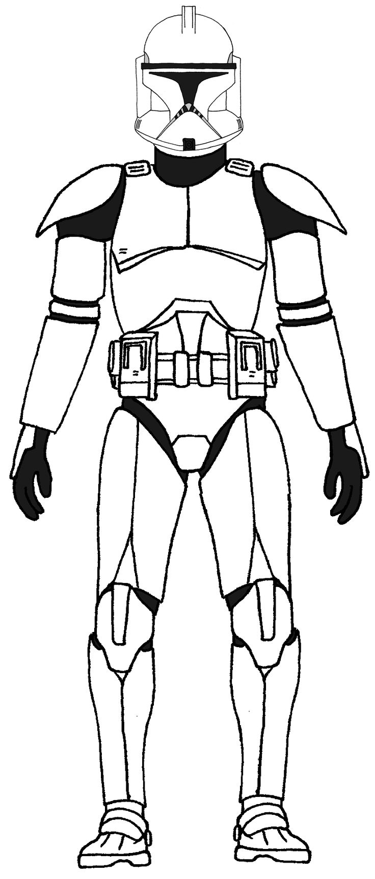736x1725 Clone Trooper Drawing 157 Best Clone Trooper Characters Images
