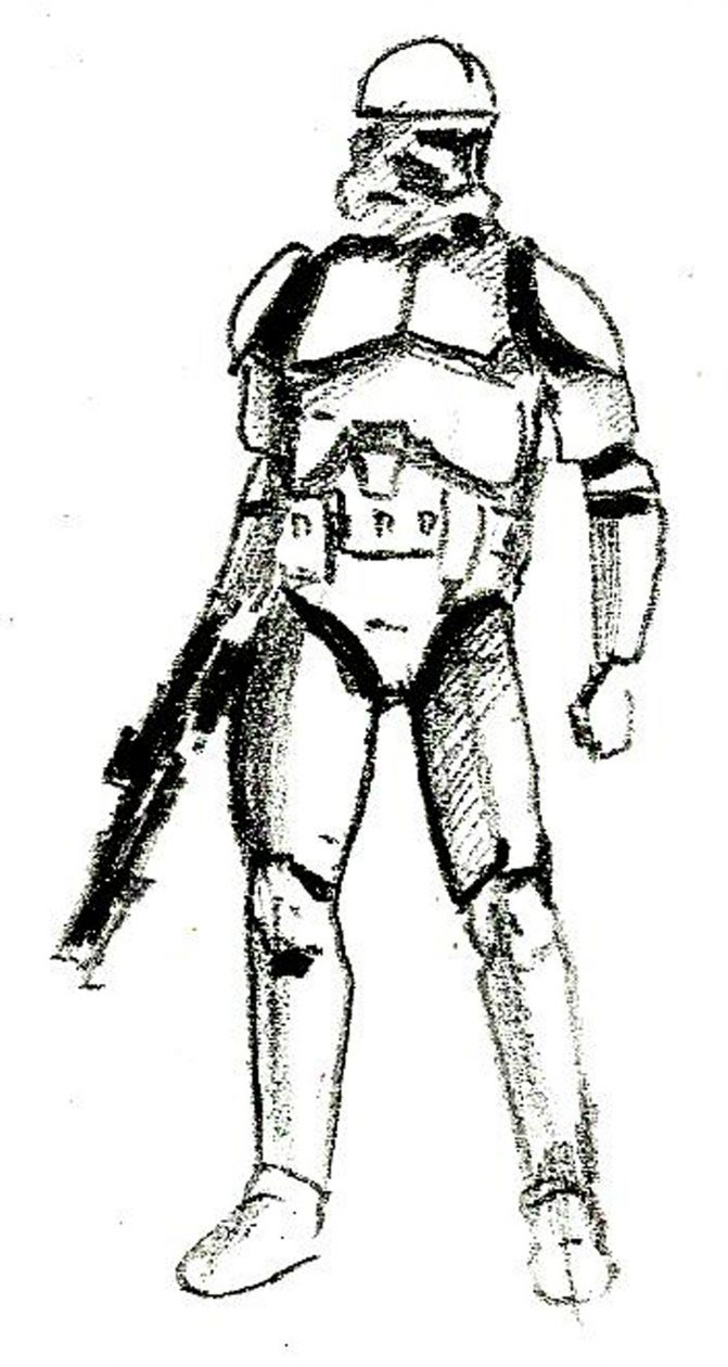 671x1260 Clone Trooper Drawing Coloring Pages Clone Trooper