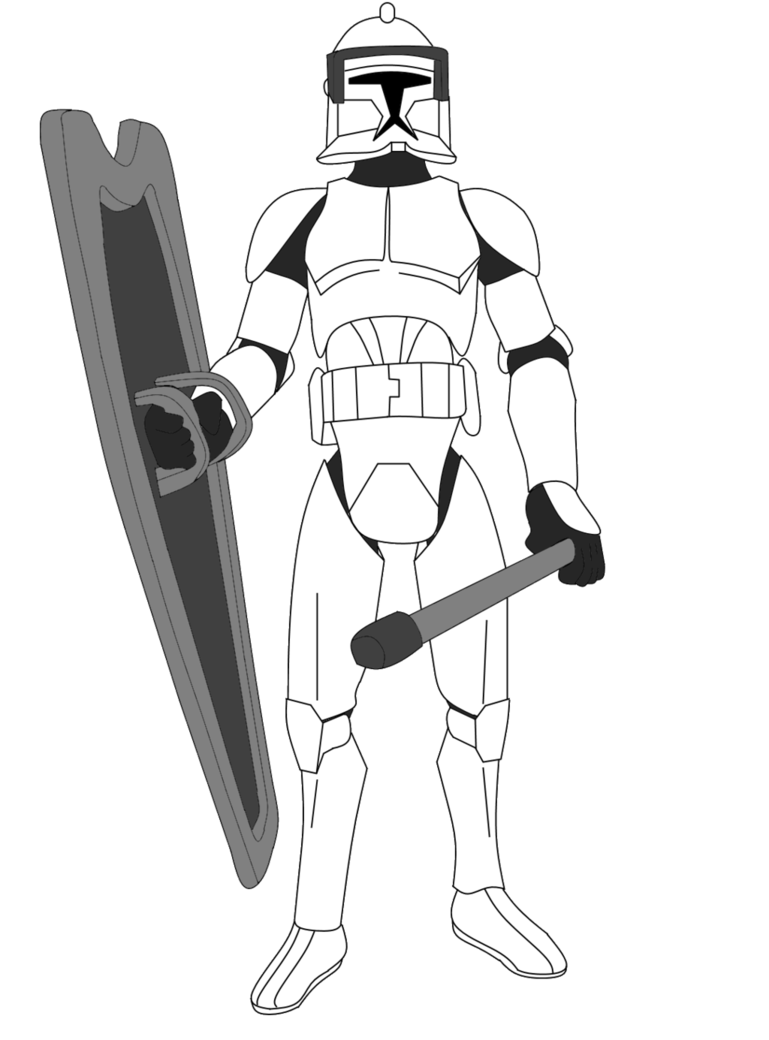 769x1040 Clone Trooper With Riot Gear By Fbombheart
