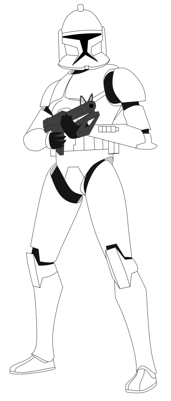 583x1369 Clone Trooper With Dc 15s V2 By Fbombheart