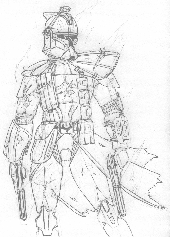 Clone Trooper Drawing at GetDrawings | Free download