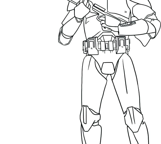 667x600 Star Wars Clone Coloring Pages How Draw Star Wars Clone Trooper