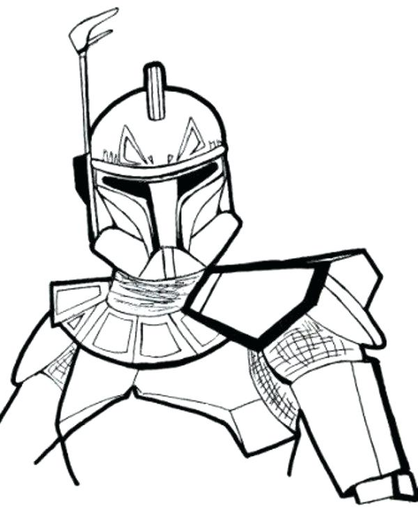 600x732 Star Wars Clone Coloring Pages Star Wars The Clone Trooper Drawing