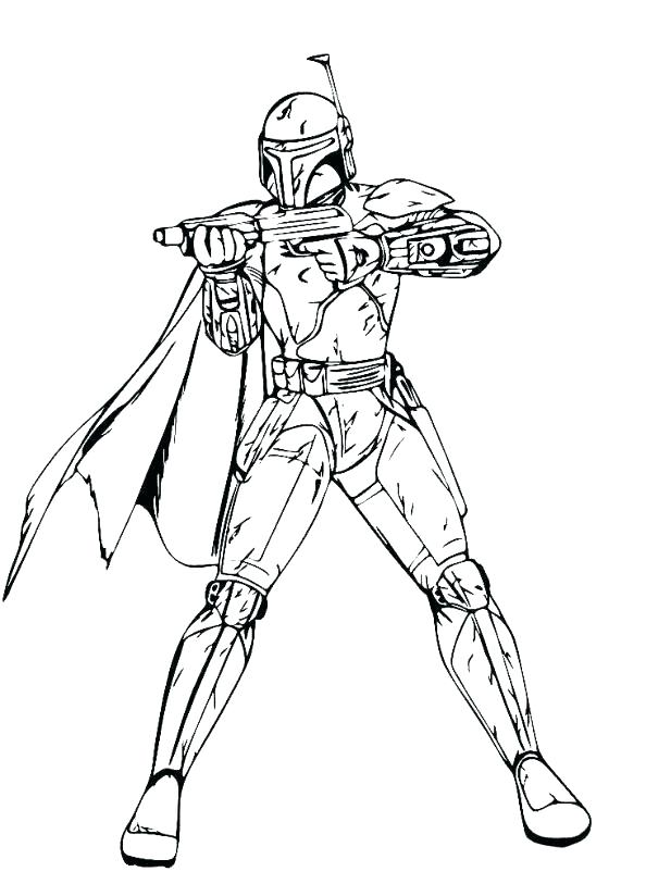 594x813 Star Wars Clone Trooper Coloring Pages Star Wars Clone Coloring