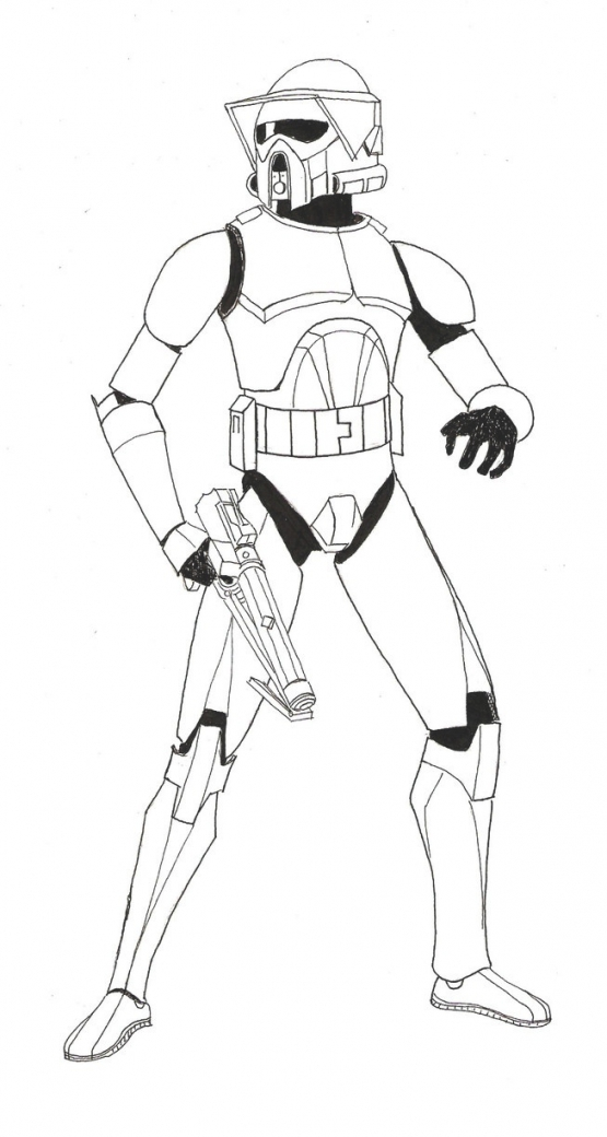 555x1040 The Clone Trooper Drawing In Star Elegant Star Wars Clone Trooper
