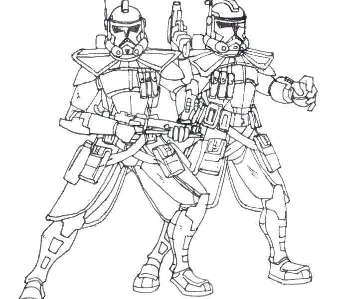 678x600 Clone Trooper Coloring Page