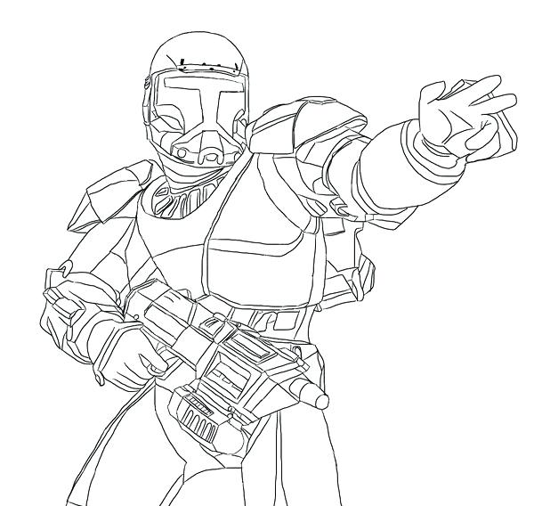 600x568 Clone Trooper Coloring Page