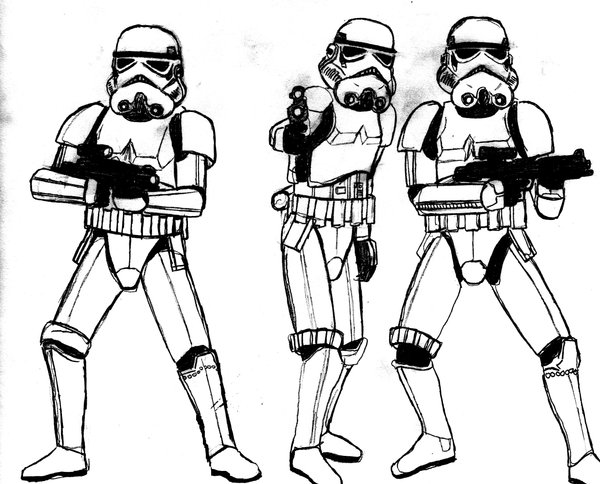 600x484 Stormtrooper Clipart Drawing