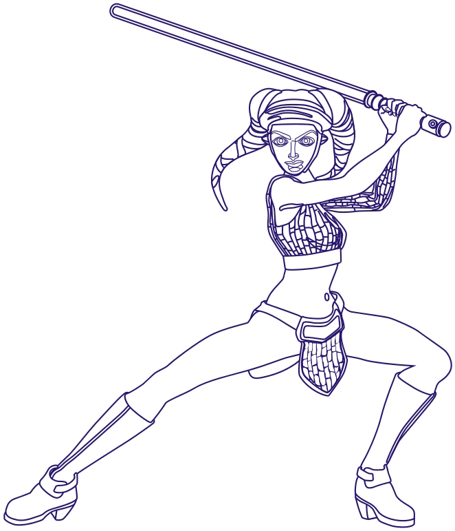 662x771 How Draw Aayla Secura From Star Wars The Clone Wars How