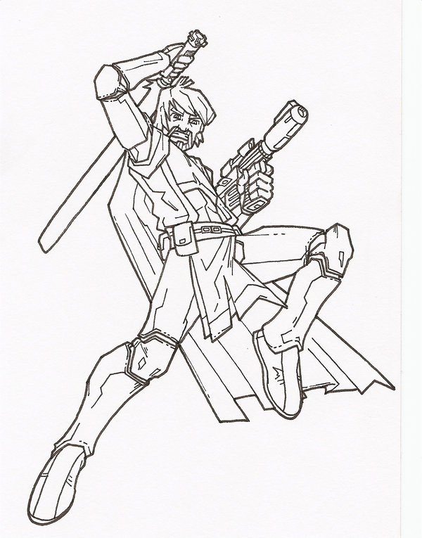 600x765 Clone Wars Obi Wan By Secowankenobi On Lineart Star