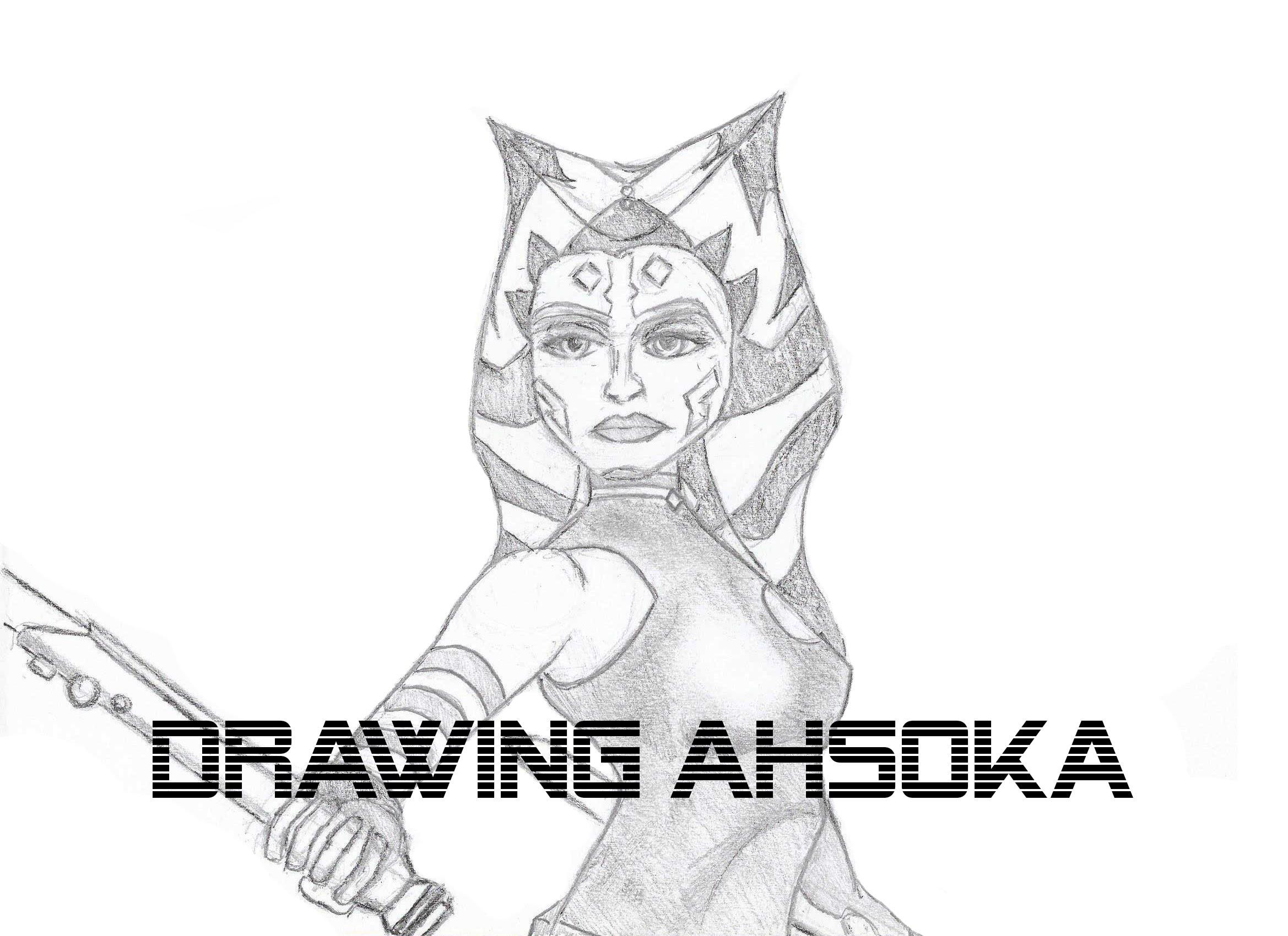 2338x1700 Drawing Ahsoka Tano