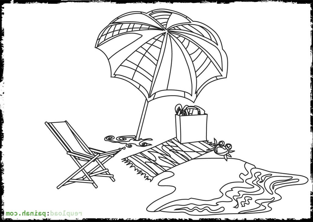 1024x728 Beach Umbrella Drawing