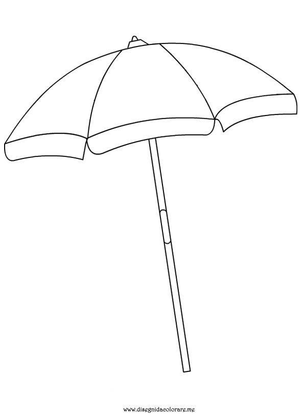 595x822 Beach Umbrella Outline Simple Living Tree In The World Places