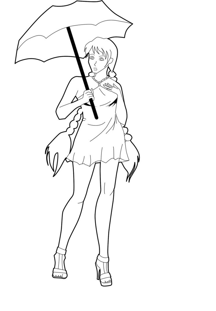 745x1071 The Umbrella Girl Lineart By Sonadora100