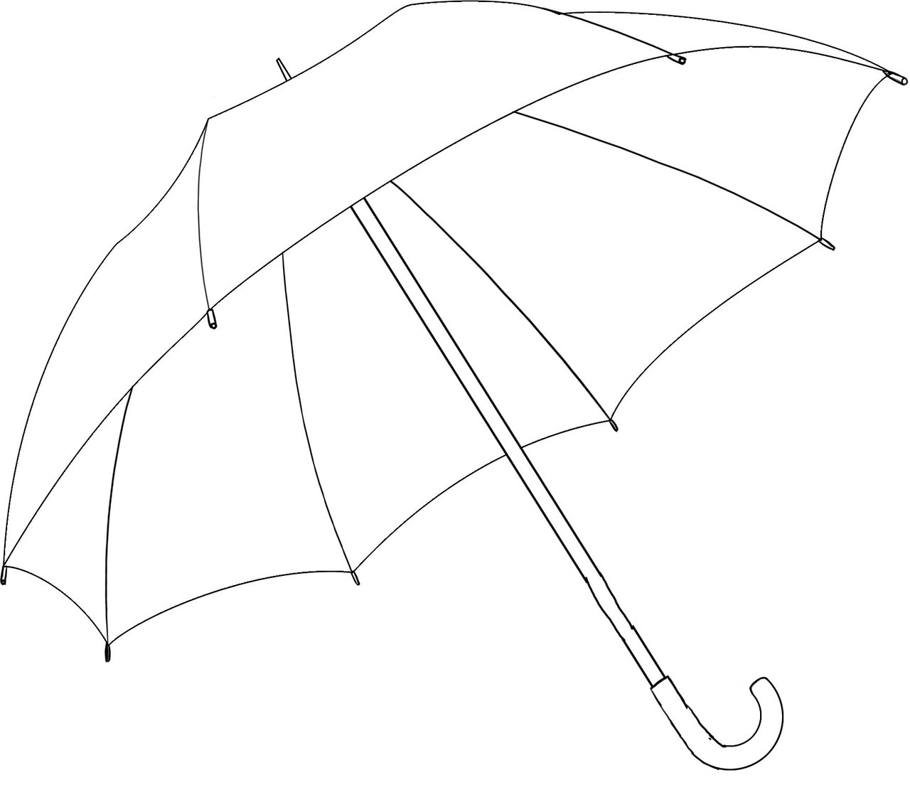 1280x1121 Umbrella To Draw Umbrella Drawing