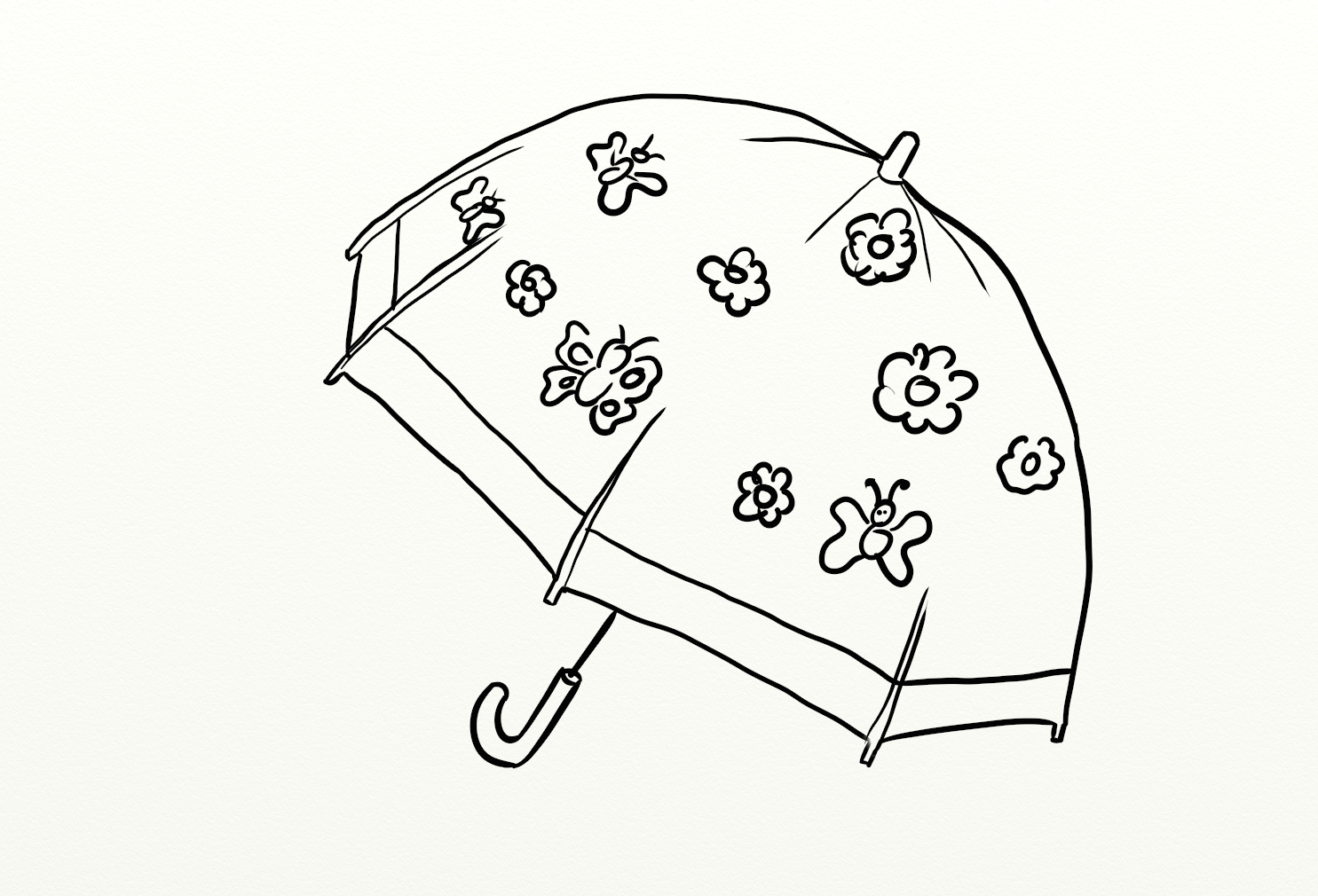 1485x1010 Colours Drawing Wallpaper Beautiful Umbrella Coloring Colour