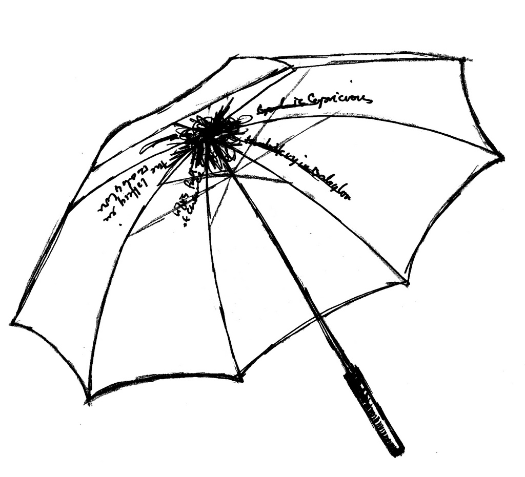 1024x931 Closed Umbrella Sketch Clipart Panda