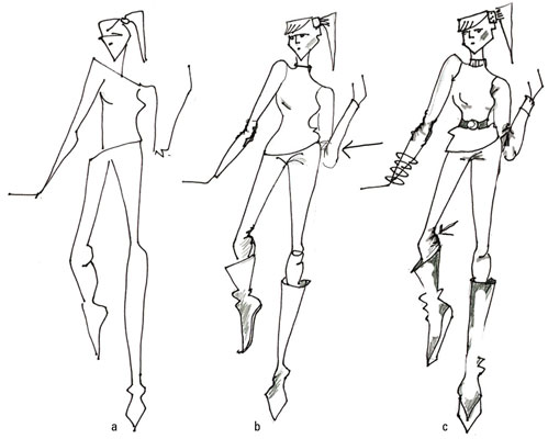 499x400 Follow Folds To Show How Clothes Move In Fashion Drawing
