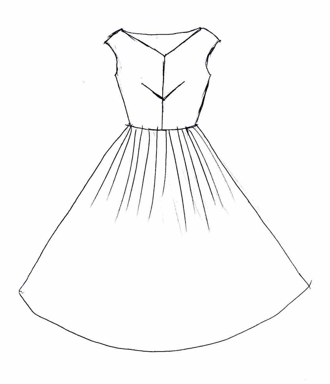 how to draw clothes for fashion design