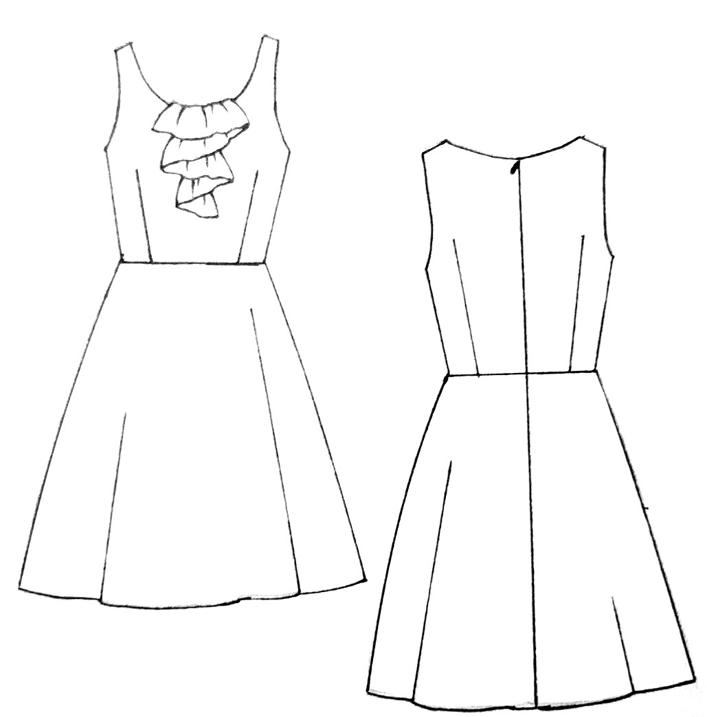 1029x1044 Drawing Clothes For Beginners Drawings Of Simple Dresses