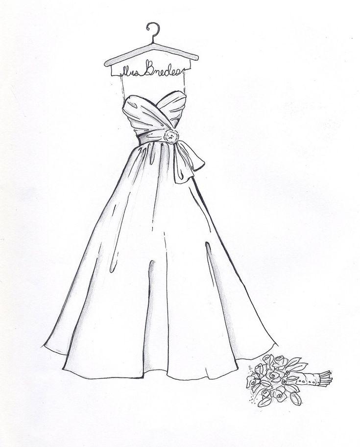 735x913 Gallery Easy Dress To Draw,