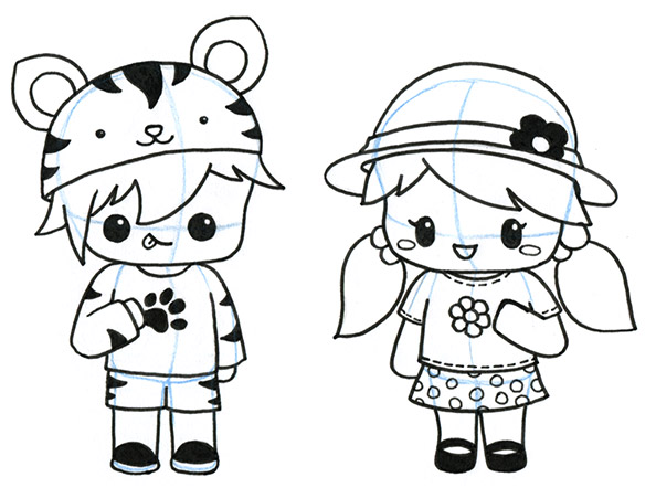 594x451 How To Draw Clothes For Kawaii Characters