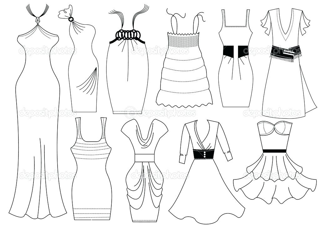 1023x723 Barbie Fashion Clothes Coloring Pages Printable For Sweet Draw