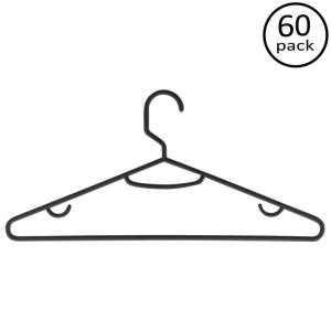 300x300 Honey Can Do Black Recycled Plastic Hangers (60 Pack) Hngz01520