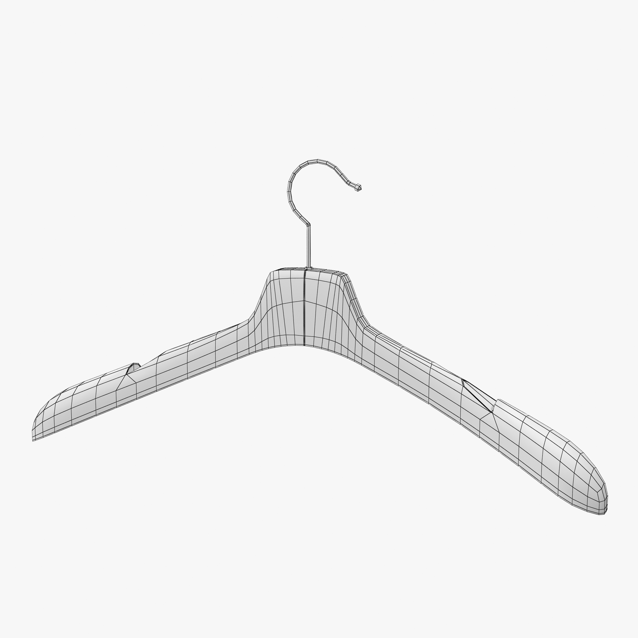 2048x2048 Wooden Clothes Hanger By 3d Piknik 3docean