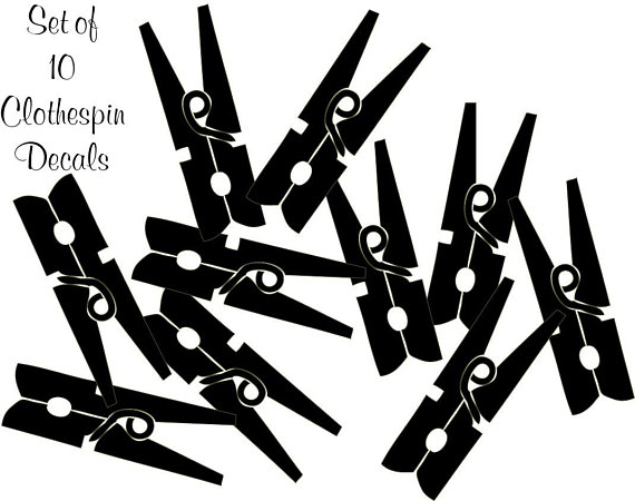 570x450 Items Similar To Set Of 10 Clothespin Decals On Etsy