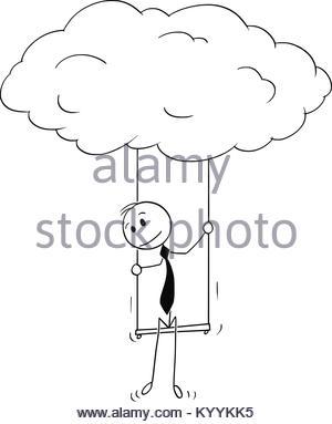 300x383 Cartoon Dream Cloud Stock Vector Art Amp Illustration, Vector Image