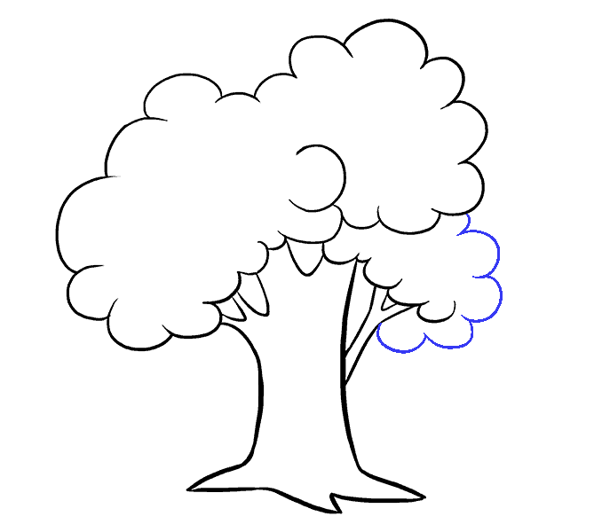 678x600 How To Draw A Cartoon Tree Easy Step By Step Drawing Guides
