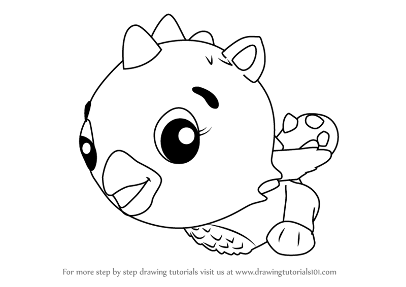800x566 Learn How To Draw Cloud Draggle From Hatchimals (Hatchimals) Step