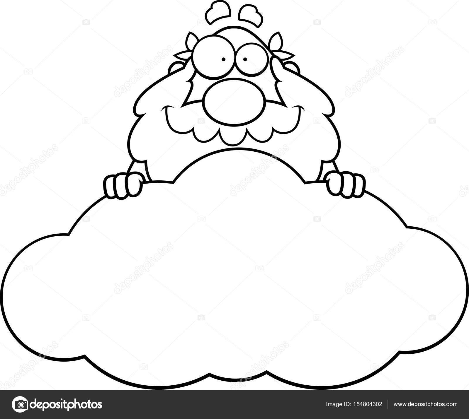 1600x1431 Cartoon God Cloud Stock Vector Cthoman