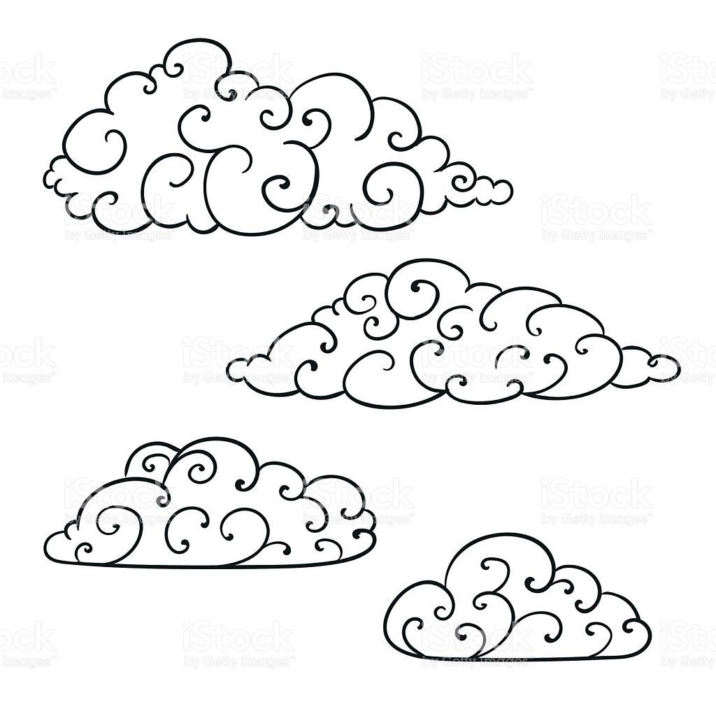 1024x1024 Drawn Cloud Vector Art