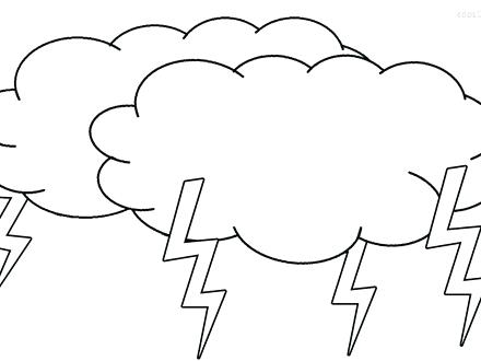 440x330 Kids Drawing Of Clouds Coloring Page Pages Printable Murs