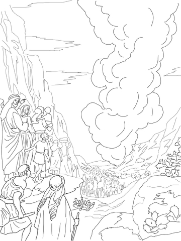 360x480 Pillar Of Fire And Cloud Coloring Page Free Printable Coloring Pages