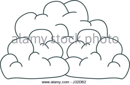 450x296 Gray Hand Drawing Silhouette Of Cumulus Clouds Stock Vector Art