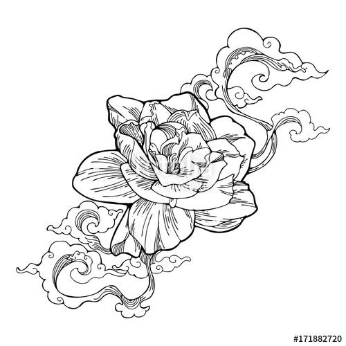 500x500 Cape Jasmine, Gardenia Jasmine And Aroma Cloud Design By Ink
