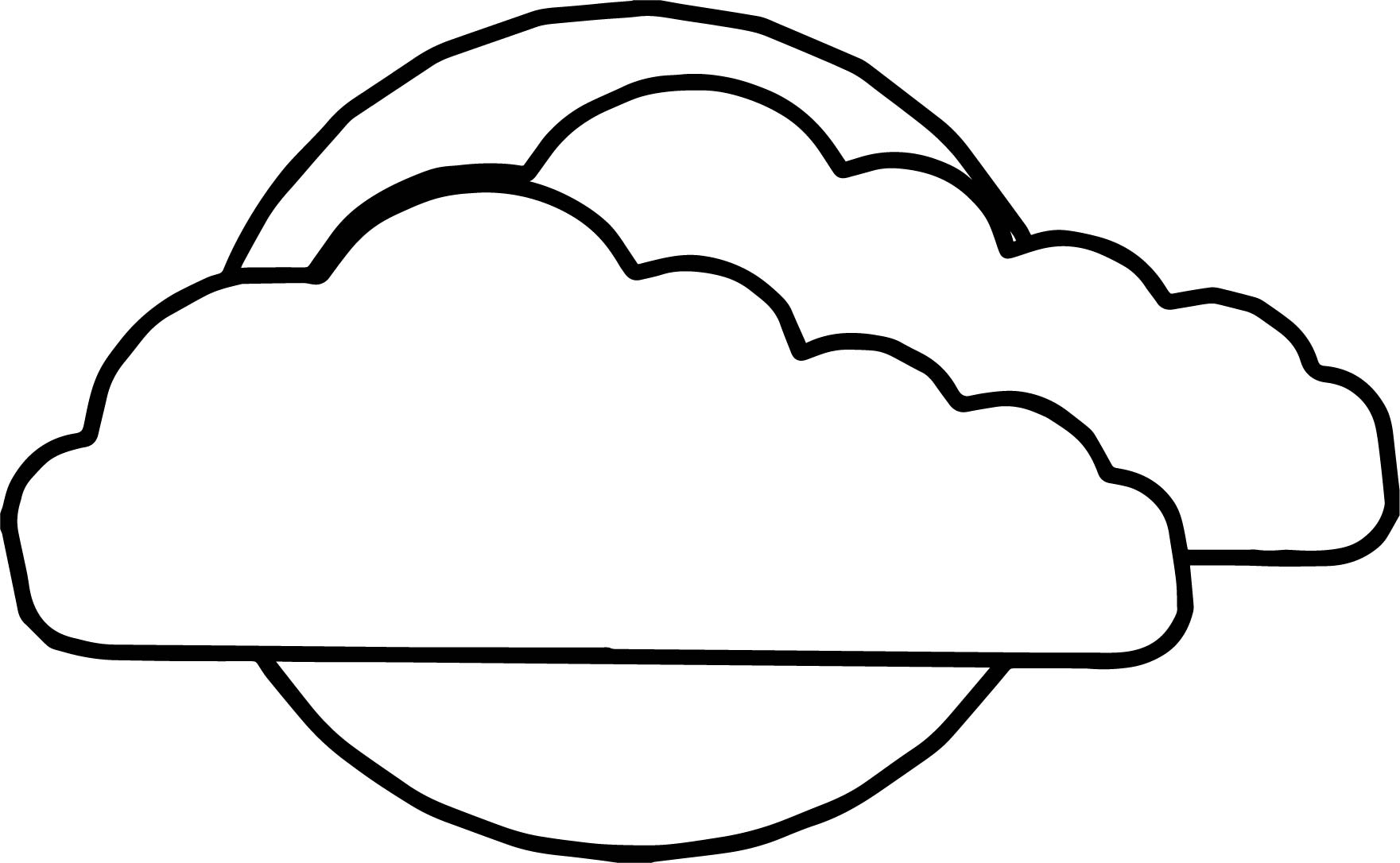 Clouds Line Drawing at GetDrawings.com | Free for personal use ...