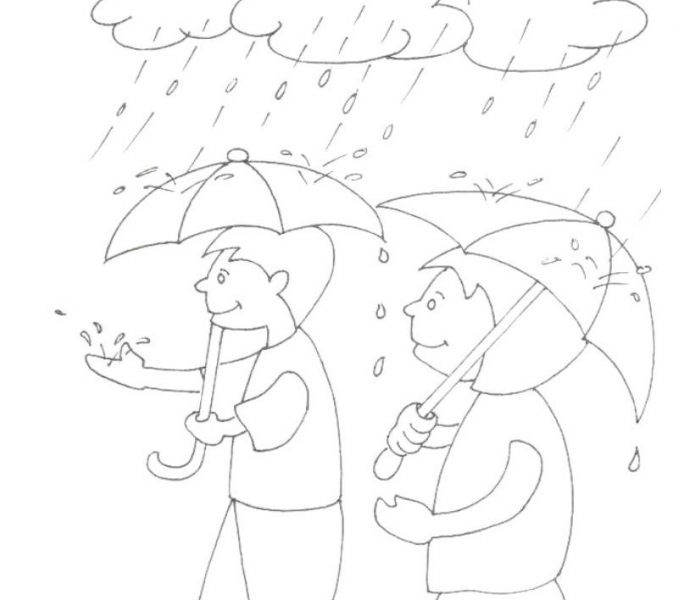 678x600 Images Of A Rainy Day Drawing Allofpicts